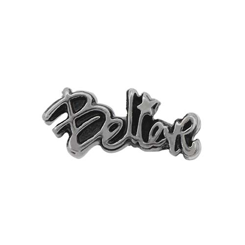 CH5042 Gun Metal Believe Charm V1 copy